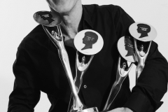 Akin with his BHA trophies
