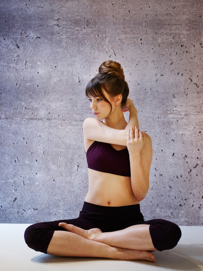 Wrapped yoga bun