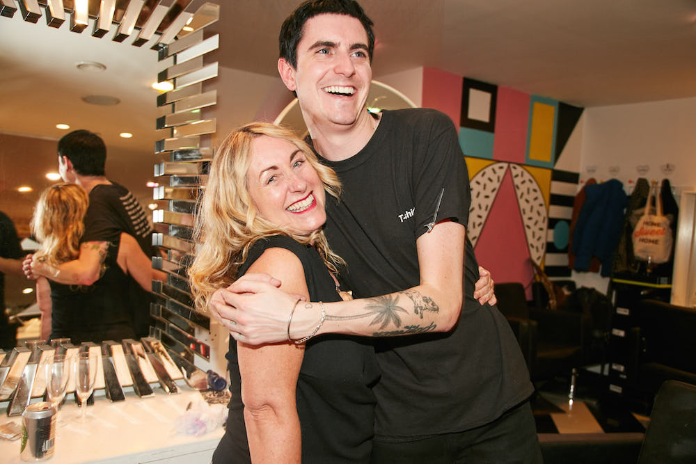 Penny Etheridge & Ross Cossgrove - Hair Council Sign Up event